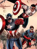 世代相承-美国队长山姆·威尔逊与美国队长史蒂夫·罗杰斯漫画